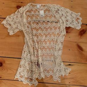 NWT - Crochet Kimono